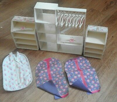 vintage Barbie doll  chest and wardrobes