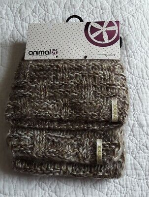 BNWT ANIMAL Ladies Beanie Winter Hat & Scarf Gift Set Ideal Present RRP £25 NEW