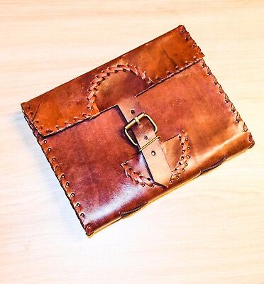Genuine Leather Handcrafted Vintage Diary Notebook With leather Steached D05