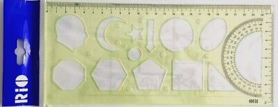 Multi Function Template / Stencils Geometric Shapes Moon Star Face.