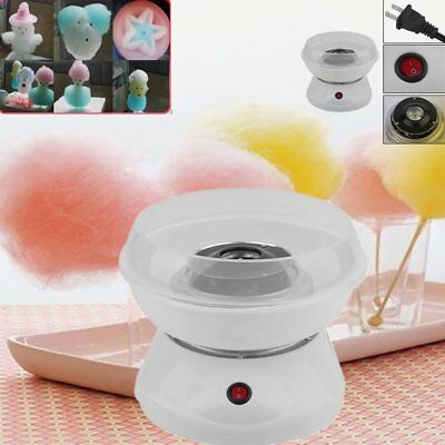 New Electric Cotton Candy Machine White Floss Carnival Commercial Maker Party MX