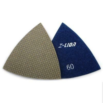 60 Grit Electroplated Triangular Polishing Diamond Oscillating Pads 93mm