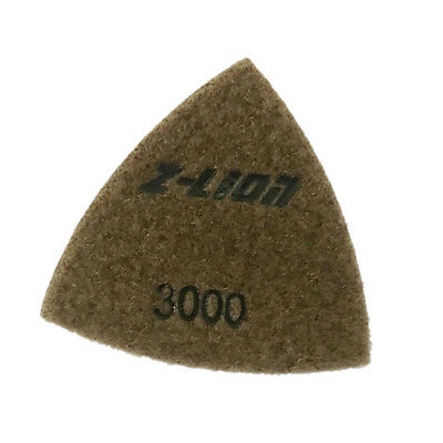 93mm Electroplated Diamond Triangular Dry Polishing /Buffing Pad 3000 Grit