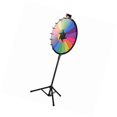 """WinSpin™ 24"""" Editable Color Prize Wheel of Fortune 18 Slot Floor Stand Tripod Sp"""