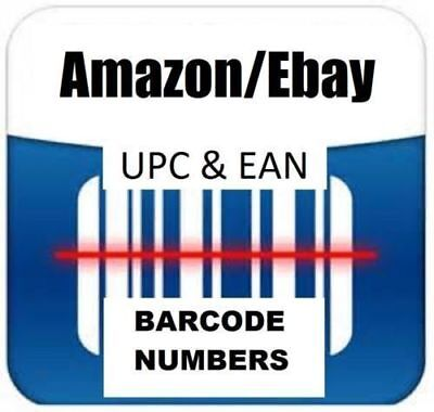 50 UPC EAN Codes Bar Codes For Listing On any eCommerce Marketplace !