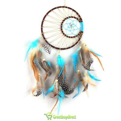 Home Car Handmade Dream Catcher Round Feather Native American Indian Style Decor