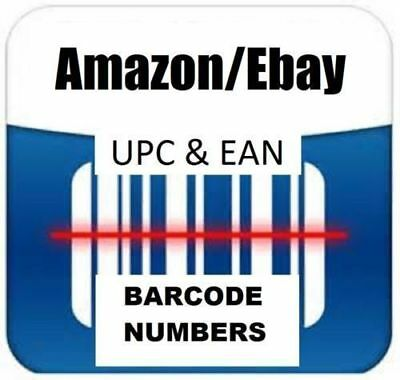 1000 UPC EAN Codes Bar Codes For Listing On any eCommerce Marketplace !