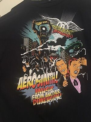 Original Aerosmith Music From Another Dimension 2012 Concert T Shirt Men's Xxl