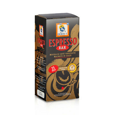 Dersut Waffles Coffee Quality Gold 25 Waffles - 7 G Made in Italy