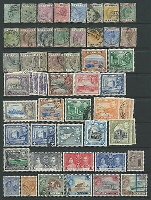 Collection of mostly good used Cyprus stamps.