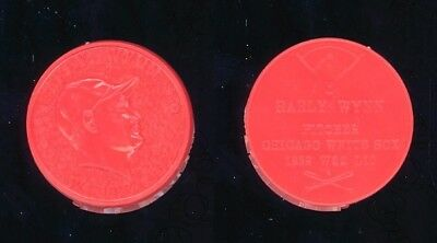 1960 Armour Baseball Coin Early Wynn (Hof), Chicago White Sox, Red/orange Color