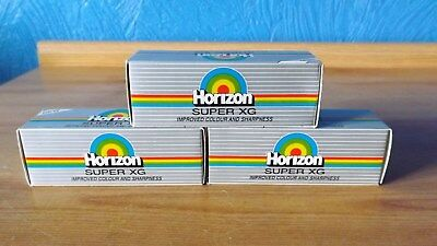 3 X Boxed Horizon Super Xg 110 Films ( Time Expired In 2002