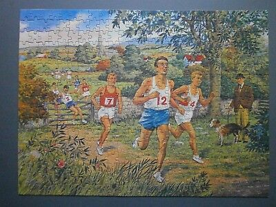 """1950's Philmar Jigsaw Puzzle """"cross Country Run"""" - Athletes, Runners"""
