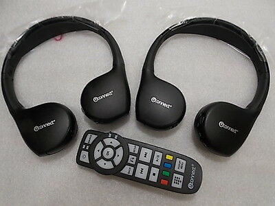 Dodge Chrysler Jeep Oem Uconnect 2 Channel Dvd Headphones And Ir Remote