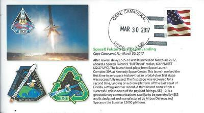 2017 SpaceX Falcon 9 SES-10 Communications Satellite Launch Cape Canaveral30 Mar