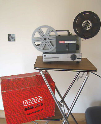 Eumig 502 Cine Projector Dual Format Super 8 and 8 MM Fully working