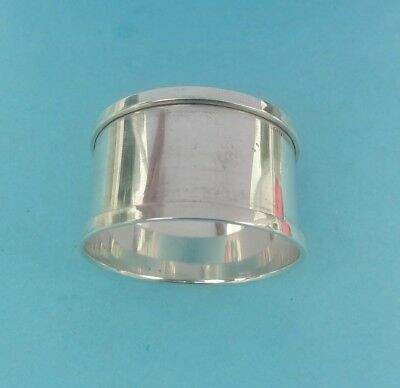 Vintage STERLING SILVER plain NAPKIN RING -Birmingham 1932 - Henry Griffith