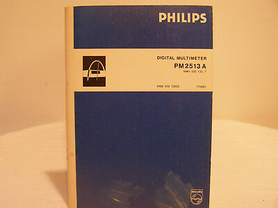 Philips Digital Multimeter PM2513A Instruction Manual