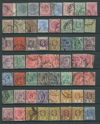 Collection of mostly good used Straits Settlements stamps.
