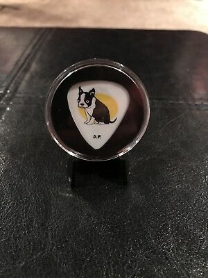 GUITAR PICK  Eddie Vedder White Sparky - Pearl Jam Plus Case and easel