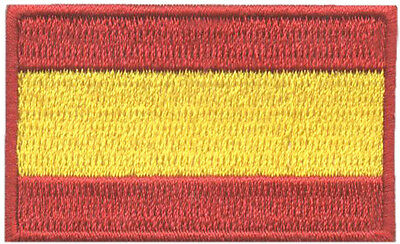 PARCHE bordado  en tela BANDERA DE ESPAÑA (MINI) MOD.2, EMBROIDERED PATCH