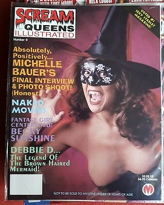 SCREAM QUEENS ILLUSTRATED #9 1995 Michelle Bauer naked movies classic horror
