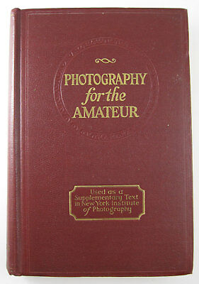 Vintage 1920s Amateur Photography book George French Maine photographer 1st