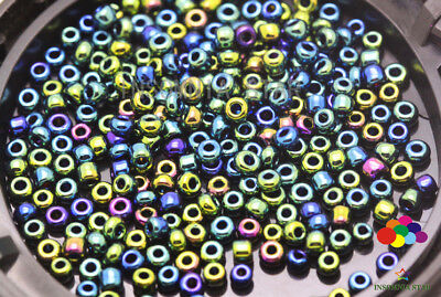 New 2mm 1000 Pcs Round Transparent Glass Czech Loose seed Spacer Beads A-190