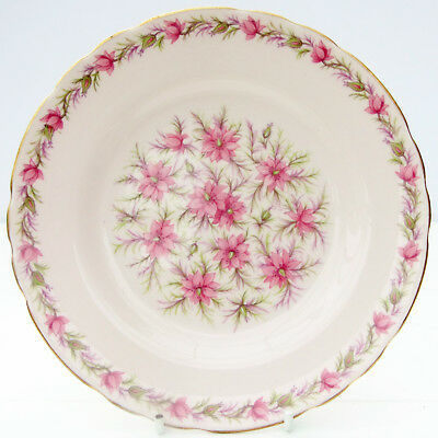 Vintage Pink Tuscan China Love in the Mist Floral Tea Plate