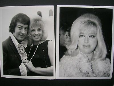 "Diana Dors- 2 x Original dated 1968 +71 Small Press Agency Photo 5""x 4""  creased"