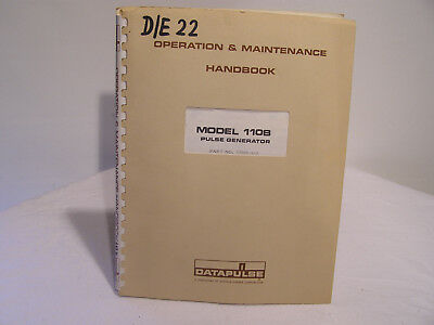 Datapulse Pulse Generator Model 100B Operation & Maintenance Handbook