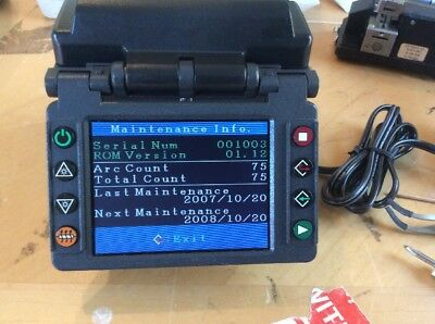 Fujikura Fsm-11S Fiber Optic Fusion Splicer / 80 Total Splices / Otdr Tech Tool
