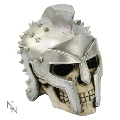 Nemesis Now GLADIATOR SKULL Spiked Helmat Ornament Figurine 12cm