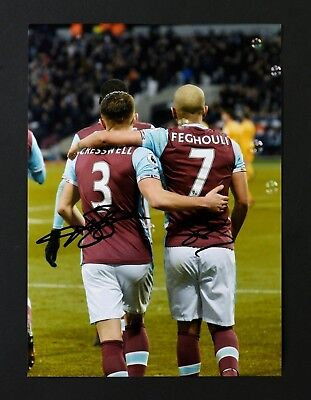 SALE CRESSWELL & FEGHOULI WEST HAM HAND SIGNED PHOTO AUTHENTIC GENUINE COA 12x8
