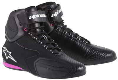 """Alpinestars Stella Faster Street Riding  SHOES SIZE """" 8 US """" BLACK AND PINK"""