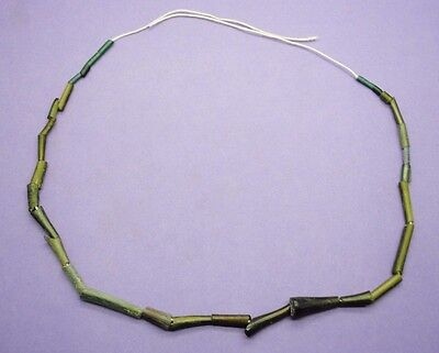 Ancient Romano Egyptian glass tube bead necklace 1st century AD
