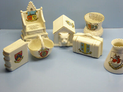 CRESTED CHINA  , DOG KENNEL , BOOK  , GOSS , TUSCAN , SWAN   , ART DECO tea set