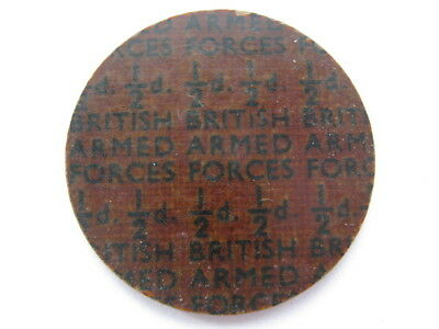 NAAFI British Armed Forces currency Halfpenny 25mm plastic