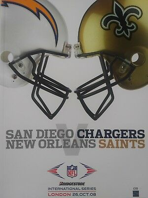 San Diego Chargers v New Orleans Saints played at Wembley Stadium 26/10/08 Mint