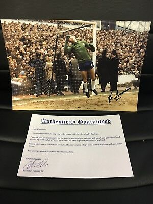 "Chelsea FC Peter ""the Cat"" Bonetti, signed photo"