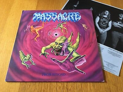 Massacre - From Beyond - 1991 Lp With Insert Vg+ Look In My Ebay Shop For More!!