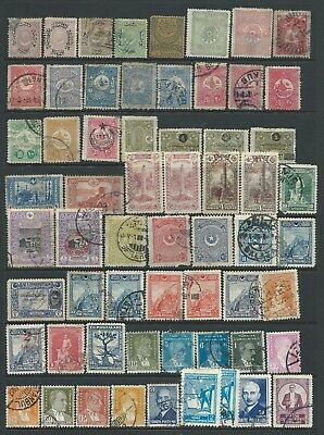 Collection of mostly good used Turkey stamps.