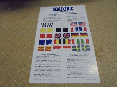 Scalextric style Track Flag sheet from 1960's ( re print as per original ) mint
