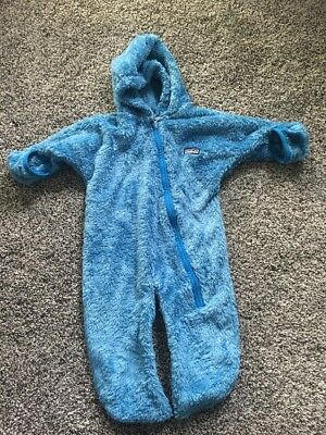 Baby Boys Patagonia Fleece Bunting Size 12 Months