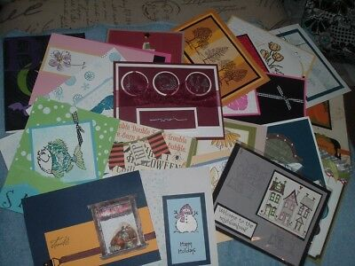 Lot of 40 cards, fronts, all Stampin' Up! Demonstrator quality