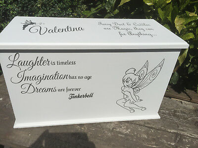 Tinkerbell Personalised Children's Toy Box / Chest