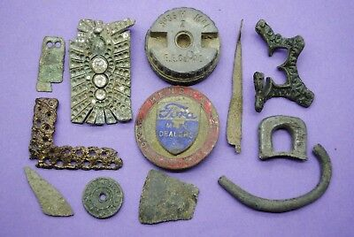 Interesting mixed lot of metal detector finds British found