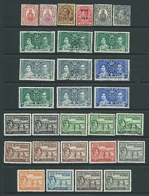 Collection of mounted MINT & fine used Turks & Caicos Islands stamps.