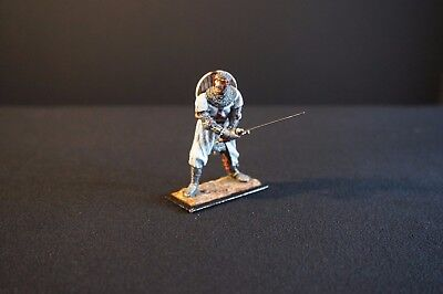 """St. Petersburg"" 54 mm foot Crusader with long sword and shield!"