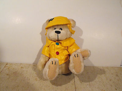 Brass Button Bear in Raincoat and Hat
